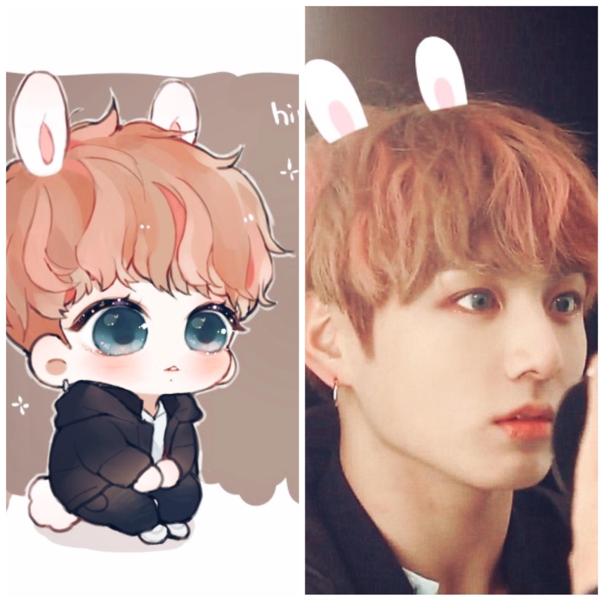 bts bangtanboys jungkookie kookie jungkook kawaii cute cute love couple clipart Love Clip Art