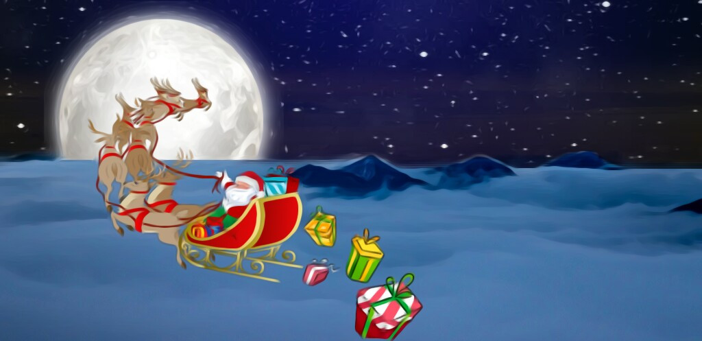 Thanks @pa for featuring my image in Smash Hits  #FreeToEdit  #santaclaus  #sleigh  #moon  #christmas