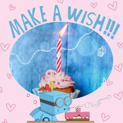 happybirthday makeawish birthdaycard birthdaycake birthday freetoedit