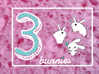 freetoedit bunnies sponge three pink