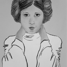 rip tribute carriefisher princessleia drawing