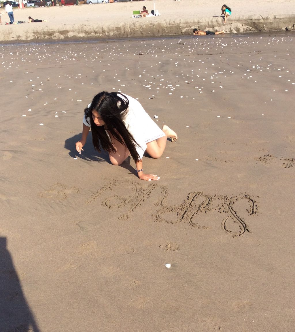 My Concentration Face When I Write Name On The Sand