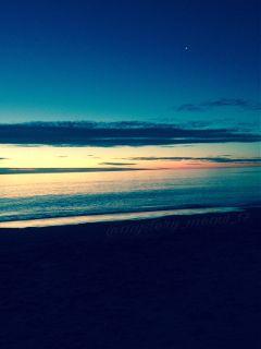 filtered colours beach nightfall sunset