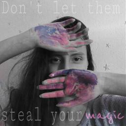 freetoedit magic magical quote colorsplash