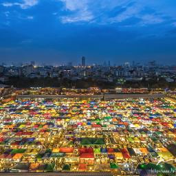 cityscape marketnight bangkok thailand fujinon