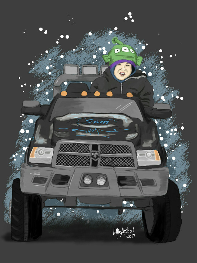 .Made this for a close friend of mine 💞  #drawing  #painting  #illustration  #sketch  #digitalart  #vehicle  #kids  ##beautiful  #infinitepainter