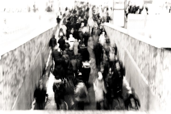 streetphotography blackandwhite winter motion
