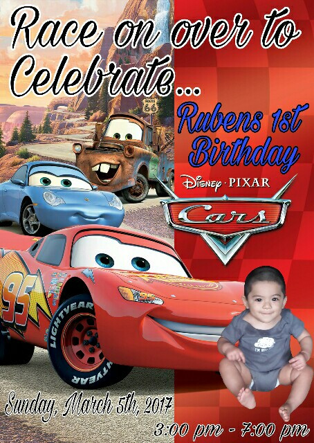 My little mans 1st birthday invitation ideas 😍 #BabyRuben #1stBirthday #CarsTheme #LeapYearBaby 👶😘❤