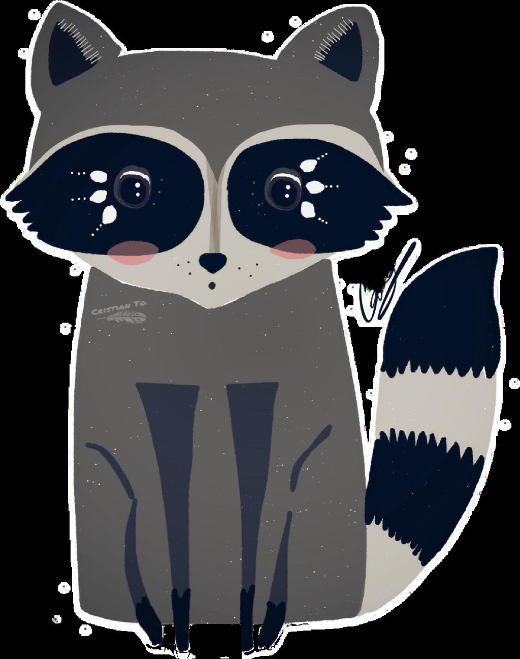 #FreeToEdit #ftestickers #raccoon