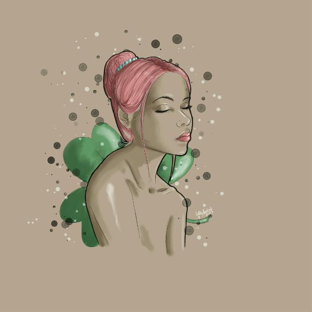 """Shamrock"" #drawing #digitalart #infinitepainter #portrait #art #illustration"